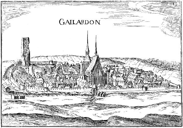 """reproduction d'une estampe représentant """"Gaillardon"""" tirée d'un ouvrage de Tassin"""