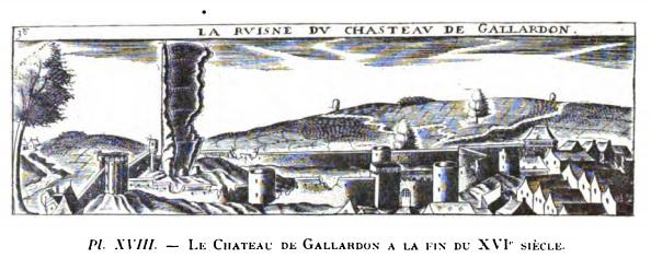 Chastillon - Ruine du château de Gallardon