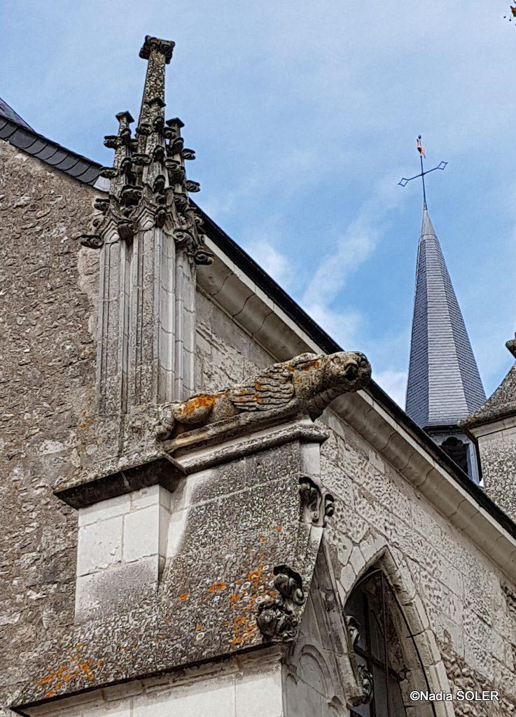 Eglise de Saint-Dyé-sur-Loire - l'unique gargouille