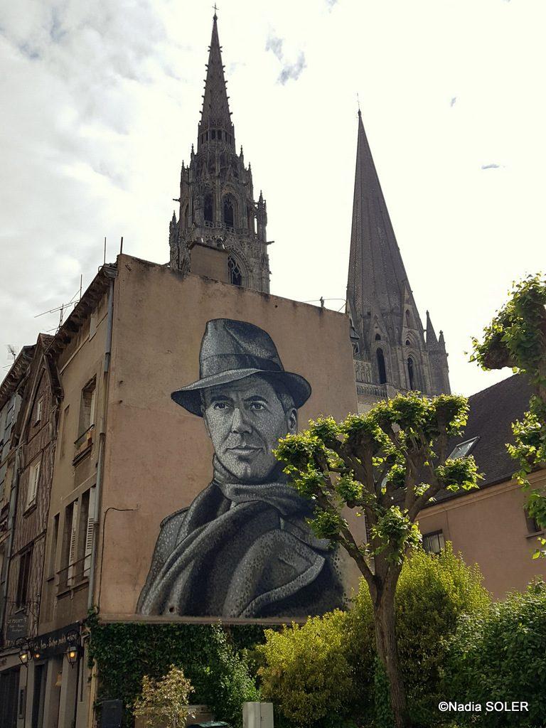 Fresque de Jean Moulin à Chartres par Jimmy C.