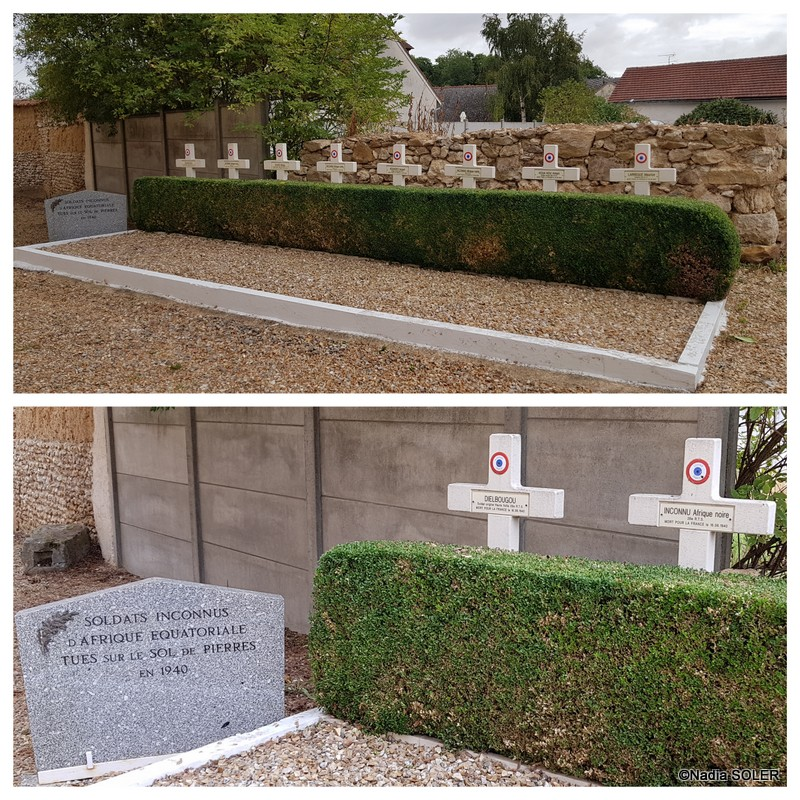 Carré militaire du cimetière de Pierres
